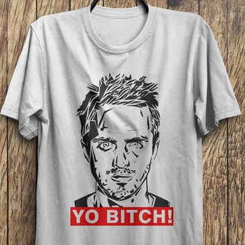 Aaron Paul T Shirt -Yo Bitch- Break Bad Tees, Jesse Pinkman shirt, Black Friday, Boxing day, Christmas Blowout Clearance Sale