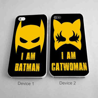I am batman and Catwoman Couples Phone Cases for iPhone Case