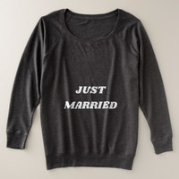 Just Married Plus Size Sweatshirt