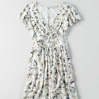 AEO Keyhole Fit & Flare Dress , Mint