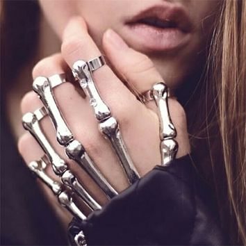 Skeleton Hand Metal Bracelet