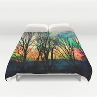 crazy sky Duvet Cover by Haroulita | Society6