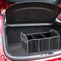 Black Car & Home Trunk Organizer - 3 Large Sections of Storage