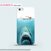 JAW iPhone 5 case iPhone 4s case MOVIE iphone 5s case Galaxy S4 S3 Cover personalized phone case SHARK iphone case Hard plastic case