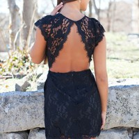 Forever Divine Black Lace Dress