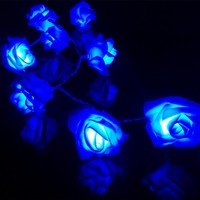 2M 3M 4M 5M Rose Flower LED Valentine's Day String Lights Battery Colorful Rosa Christmas Festival Party Garden Bedroom lumiere