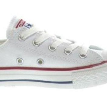 LMFONB Converse C/T All Star OX Little Kids Fashion Sneakers White