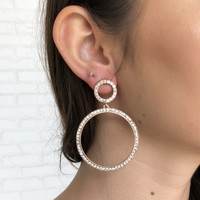 Circle Of Diamond Earrings