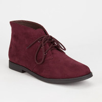 Soda Play Chukka Womens Booties Wine  In Sizes