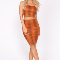 Hardwired Skirt Set - Orange/Multi