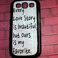 Samsung Galaxy S3 Case, Love Story, Cute Samsung Galaxy S3 Cover, Samsung Galaxy S3 Cases, Galaxy s3 case