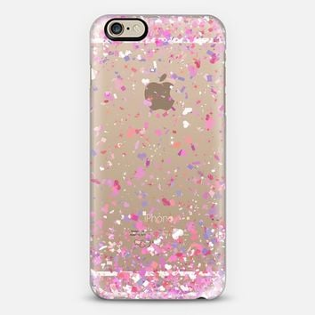 Love Confetti Explosion Transparent iPhone 6 case by Organic Saturation | Casetify