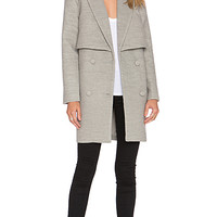 Straight Talker Coat in Grey Marle