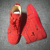 Christian Louboutin CL Suede Style #2226 Sneakers Fashion Shoes Best Deal Online