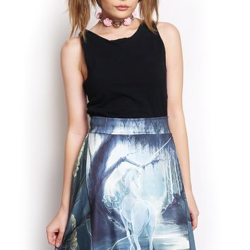 Unicorn Dreams Midi Skirt