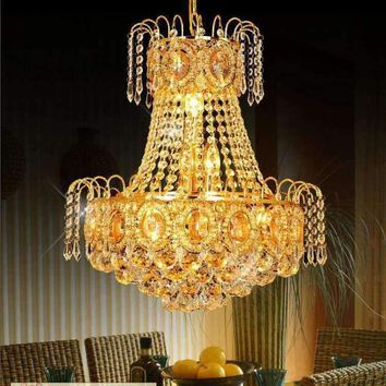 Luxury Modern Chandeliers Crystal 30w Led Crystal Chandelier Ceiling Fixtures Lighting E14 Bulbs Chandeliers D45 * H52cm
