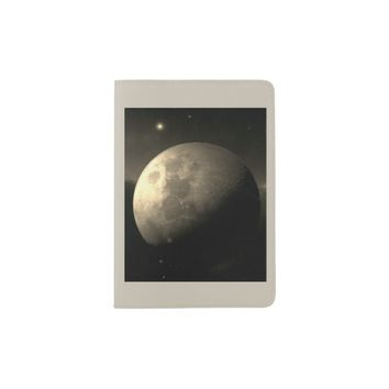 The Moon on Passport Holder