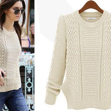 PEAPIH3 FASHION WOVEN WARM  KNIT SWEATER HIGH QUALITY NOT THE POOR
