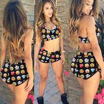 Fashion Bikini Set Emoji Swimsuit Summer Style Sexy Bathing Suit Women Swimsuit Beach Bikini Emoji Swimwear = 1956982340
