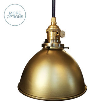 "Factory 7"" Metal Shade Pendant Light"