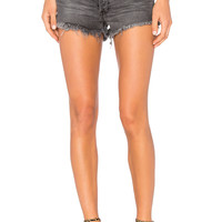 Free People Soft & Relaxed Cut Off Shorts in Sulphur Black