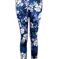 Moxie Oriential Floral Skinny Scuba Trousers