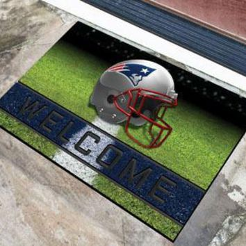 New England Patriots Door Mat 18x30 Welcome Crumb Rubber