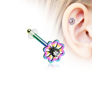 Colorline Daisy Breeze Sparkle Piercing Stud with O-Rings