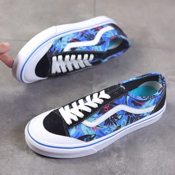 """""""Vans Style 36 Decon SF"""" Unisex Retro Multicolor Personality Print Skateboard Plate Shoes Couple Sneakers"""