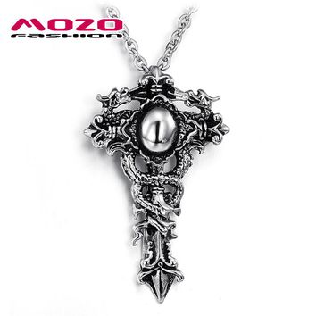 Cool Cross Chain Men's Stainless Steel Necklaces