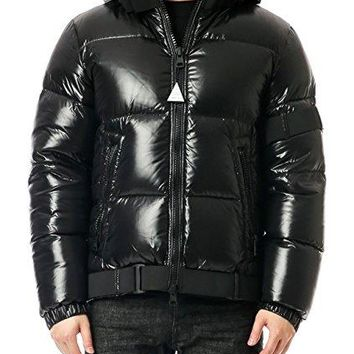 Wiberlux Moncler Brook Men's Strap Detailed Glossy Goose Down Jacket