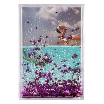 Rectangle Glitter Picture Frame - Flamingo