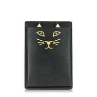 Charlotte Olympia Designer Handbags Feline Grained Leather iPad Mini Case