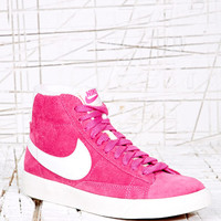 Nike Blazer High-Top Suede Trainers in Pink at Urban Outfitters