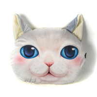 White Blue Eyes Persian Cat Cushion