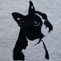 Boston Terrier T Shirt  Heather Unisex TShirt by alfieandrex
