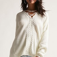 Oversized Crisscross-Front Sweater
