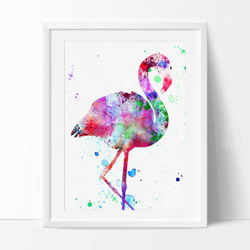 Flamingo Watercolor Art Print, Watercolor Painting, Watercolor Art Print, Watercolor Animal, Bird Art, Watercolor Poster - 14
