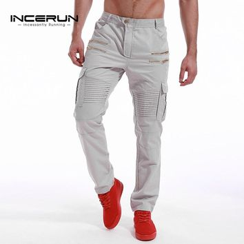 Incerun Brand Men's Chino Style Joggers