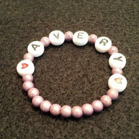 Avery Newborn Name Bead Bracelet