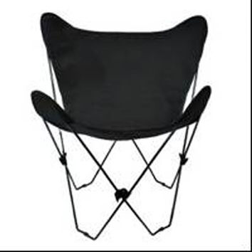 Algoma Net Company 4053-57 Black Butterfly Chair with Ebony Cover