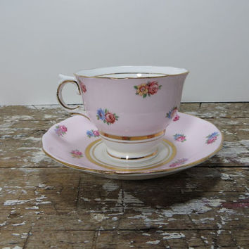 Teacup Vintage Tea Cup Cup and Saucer Pink Teacup Colclough Tea Cup Bone China Teacup Porcelain Tea Cup Made in England