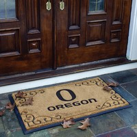 Memory Company Oregon Ducks Doormat (Tan/Black)