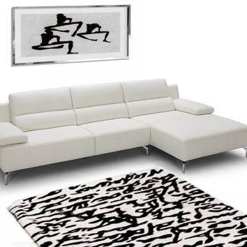 Transitional White Sectional Sofa