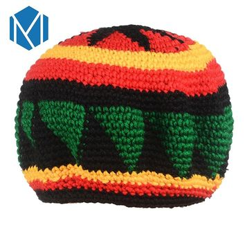 C Novelty Knitted Jamaica Bob Marley Rasta Beanie For Women Men Multicolor Male Hat Female Cap Headwear Hair Accessories