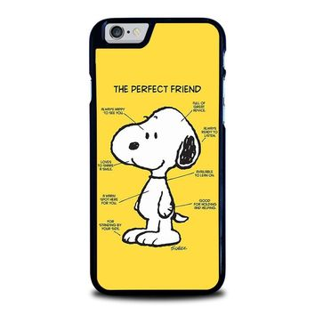 SNOOPY DOG PERFECT FRIEND iPhone 6 / 6S Case Cover