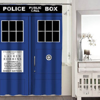 tardis dr who shower curtains adorabel bathroom heppy shower curtains.