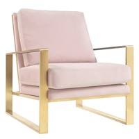 Mott Blush Velvet Arm Chair