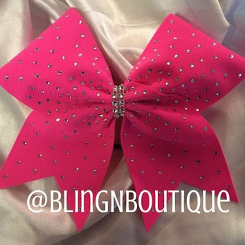 DaBlingBling in Neon Pink Cheer Bow