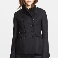 Women's Burberry Brit 'Adamsleigh' Wool Blend Peplum Coat,